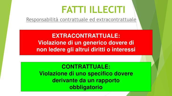 EXTRACONTRATTUALE: