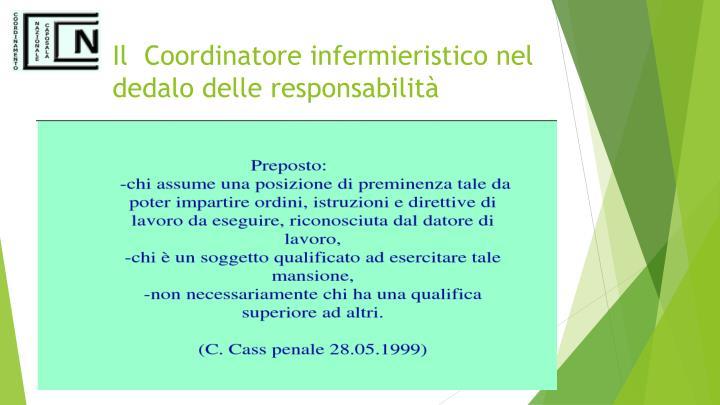 Il  Coordinatore infermieristico nel dedalo delle responsabilità