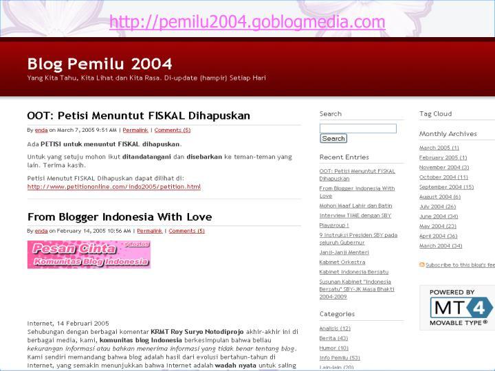 http://pemilu2004.goblogmedia.com