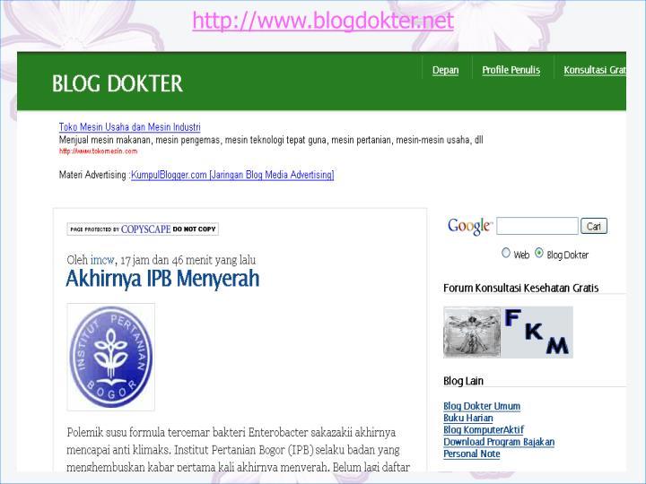 http://www.blogdokter.net