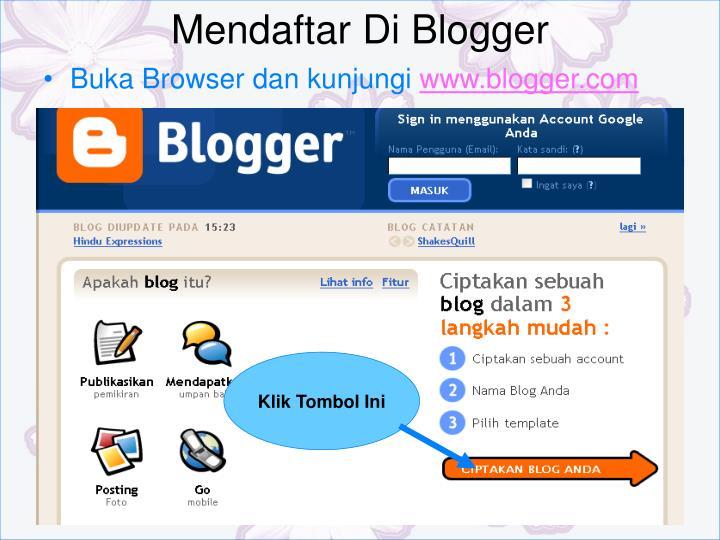 Mendaftar Di Blogger