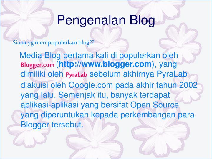 Pengenalan Blog