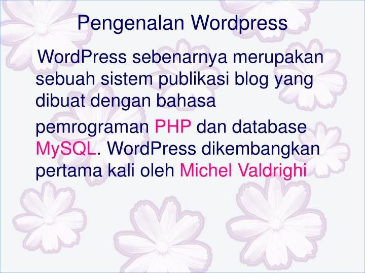 Pengenalan Wordpress
