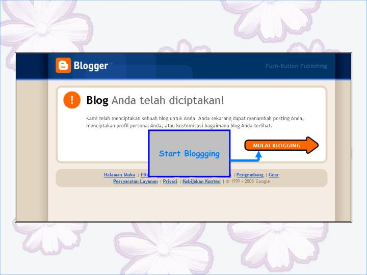 Start Bloggging