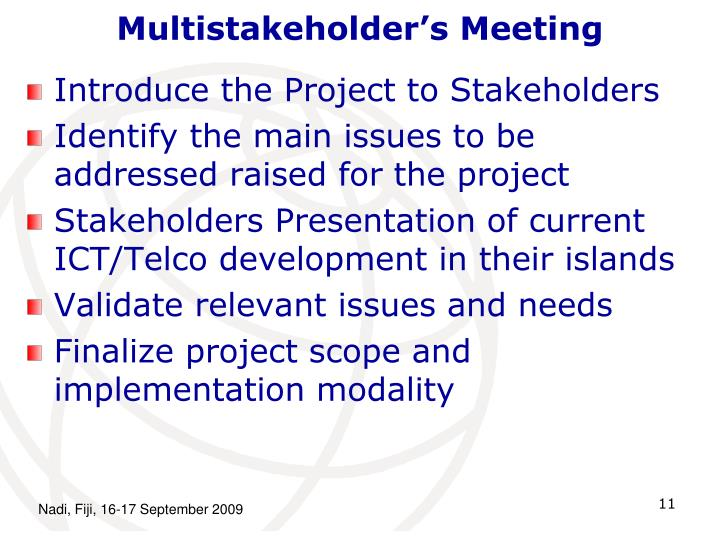 Multistakeholder's Meeting