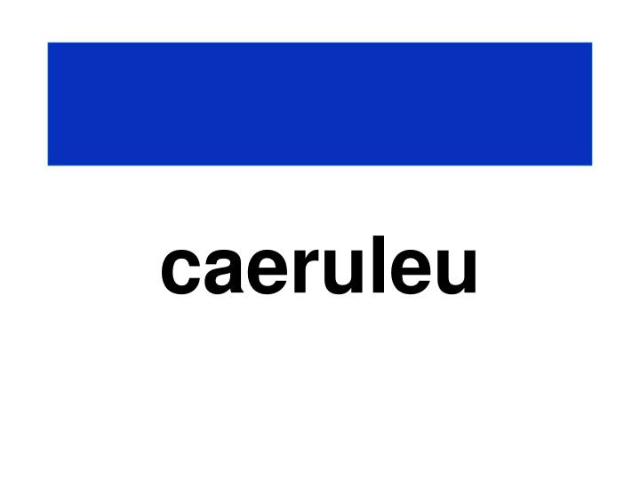 caeruleu