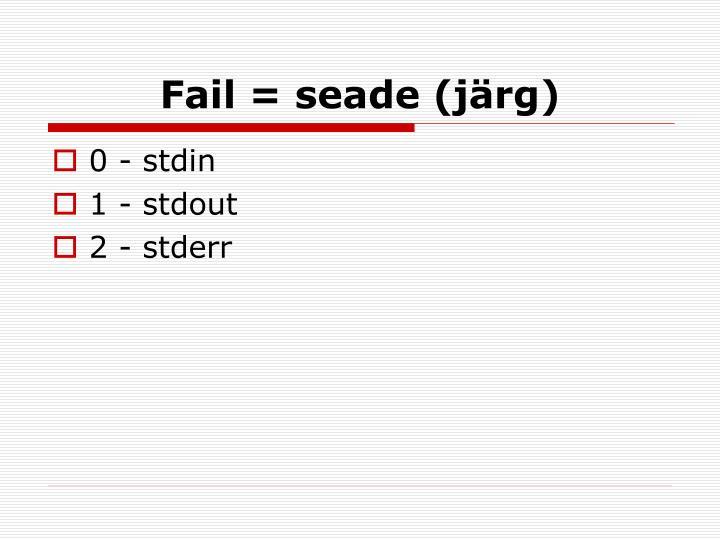 Fail = seade (järg)