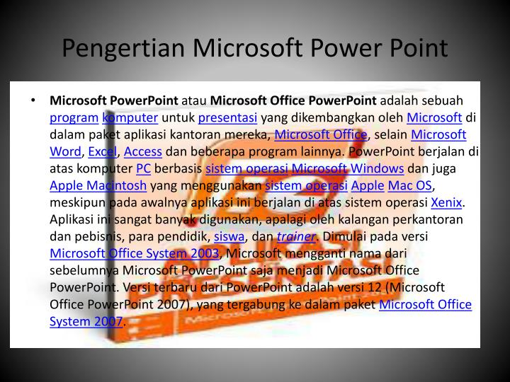Pengertian microsoft power point