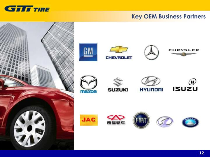 Key OEM Business Partners