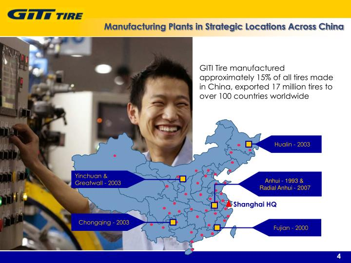 Manufacturing Plants in Strategic Locations Across China