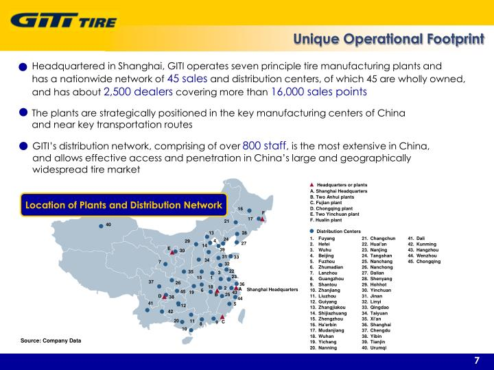 Unique Operational Footprint