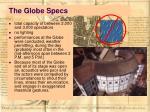 the globe specs