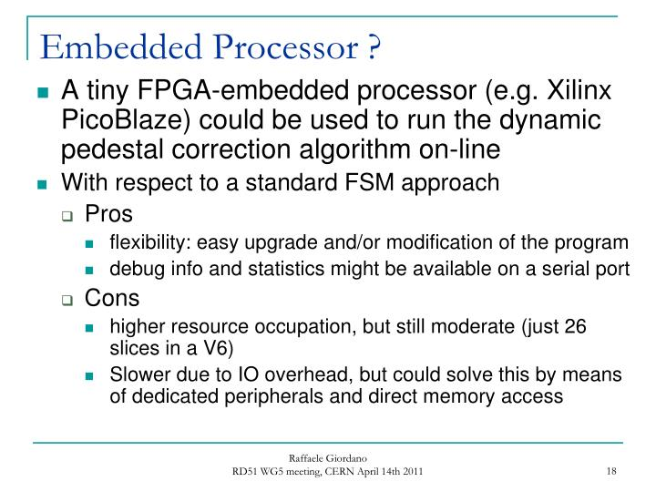 Embedded Processor ?