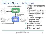 pedestal measurer remover