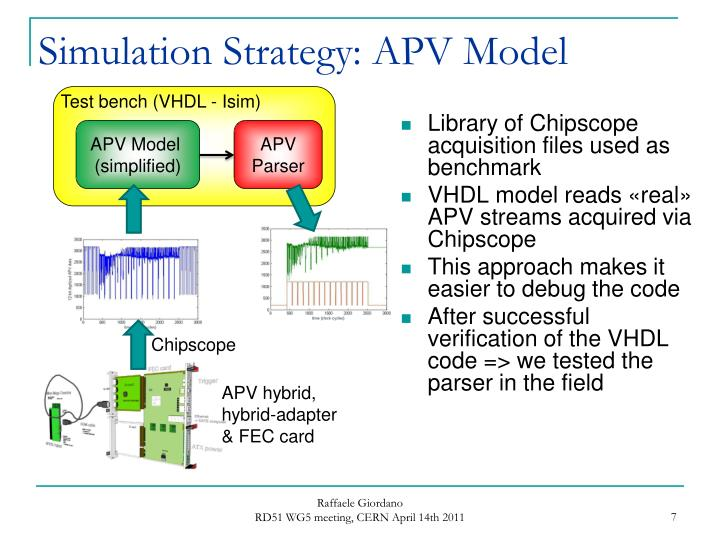Simulation Strategy: APV Model