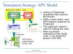 simulation strategy apv model
