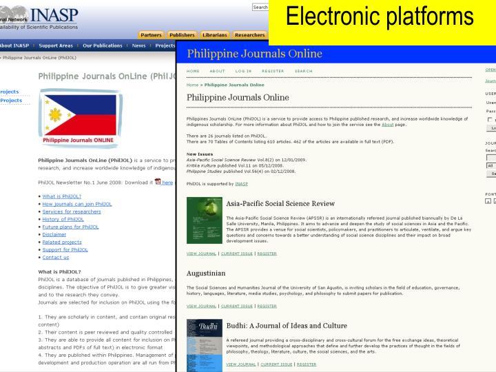 Electronic platforms
