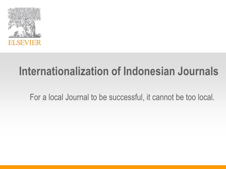 Internationalization of Indonesian Journals