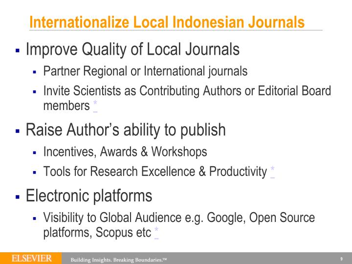Internationalize Local Indonesian Journals