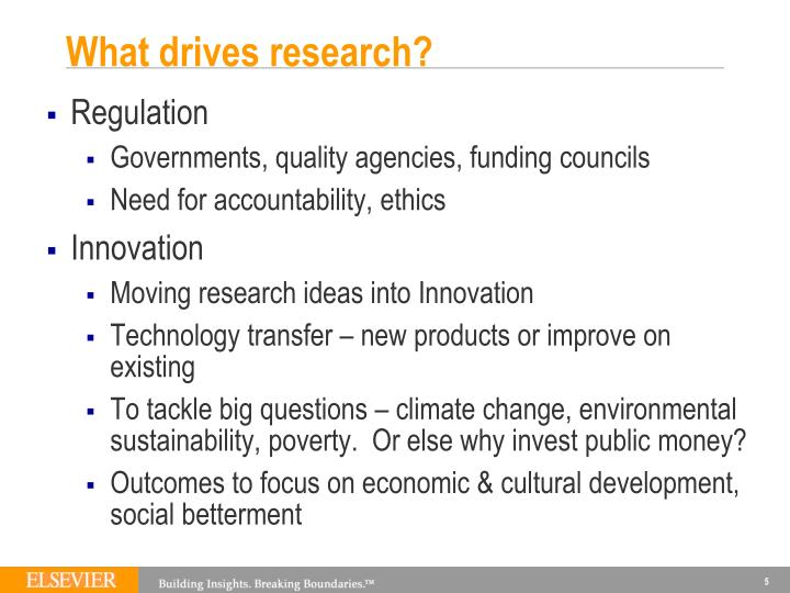 What drives research?
