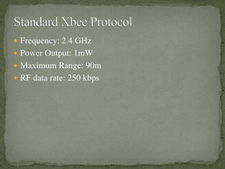 Standard Xbee Protocol