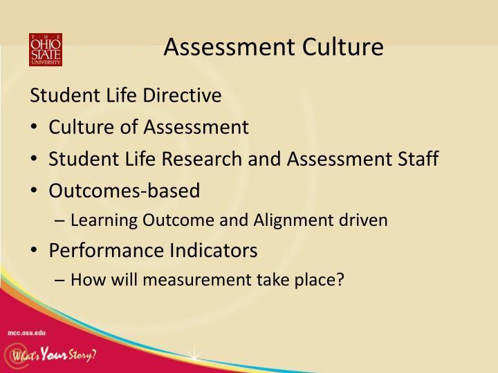Assessment Culture