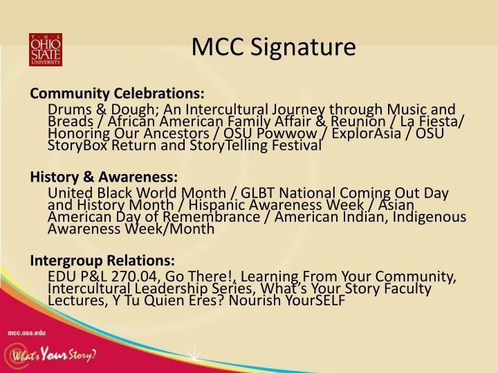 MCC Signature