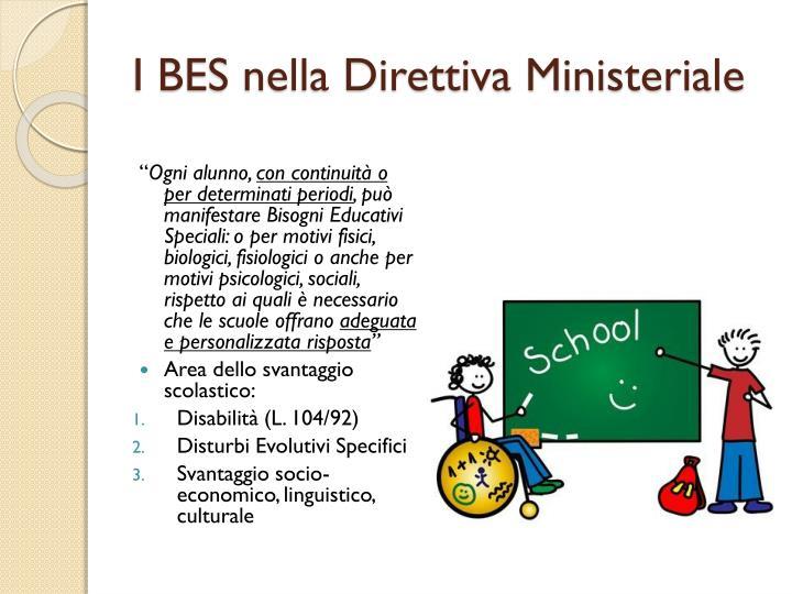 I BES nella Direttiva Ministeriale