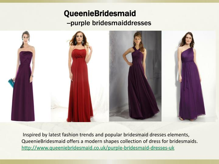 Queeniebridesmaid purple bridesmaiddresses