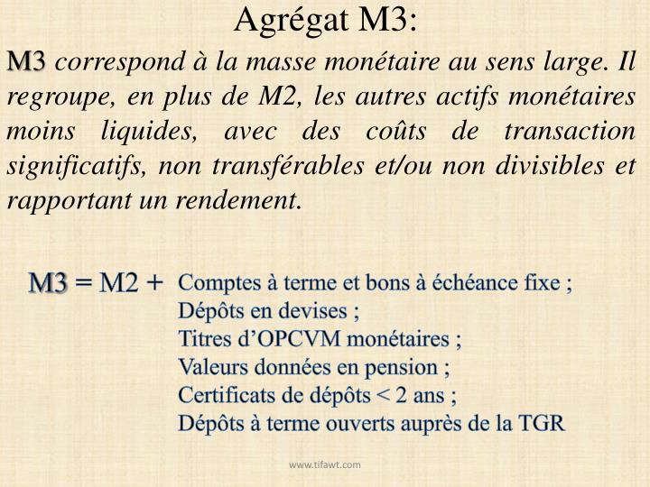 Agrégat M3:
