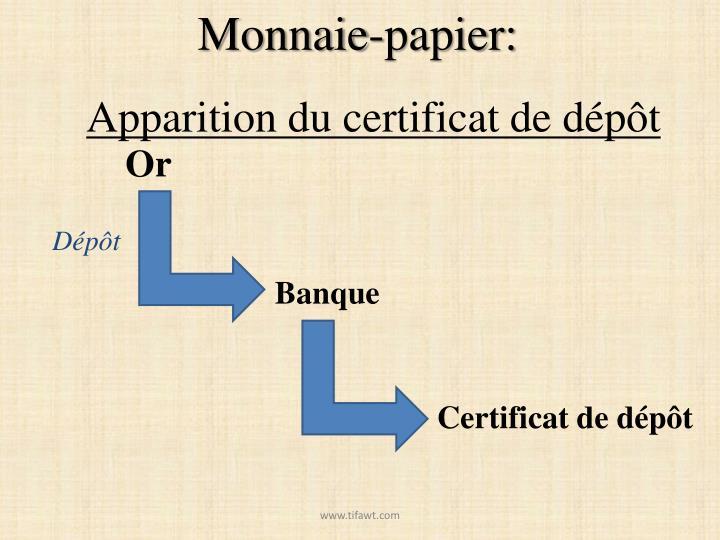 Monnaie-papier: