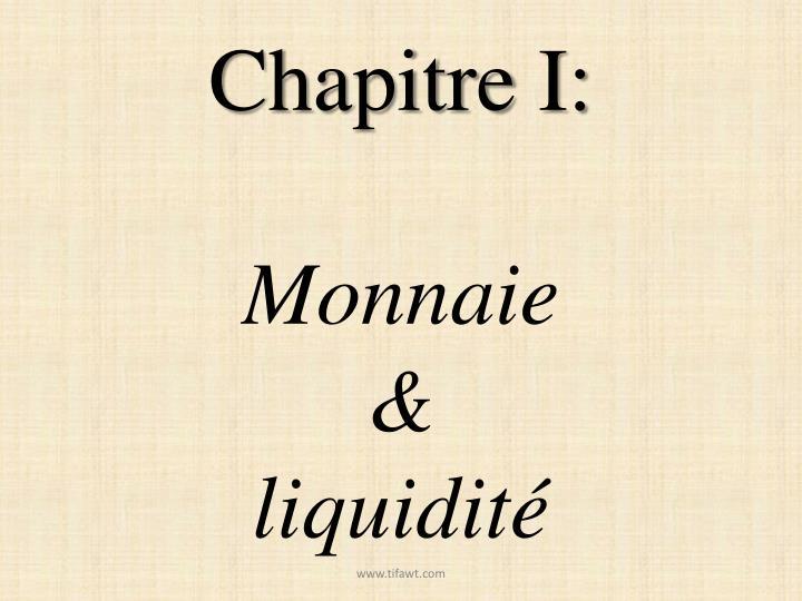 Chapitre I: