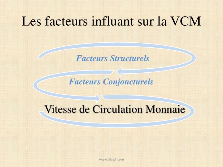 Les facteurs influant sur la VCM
