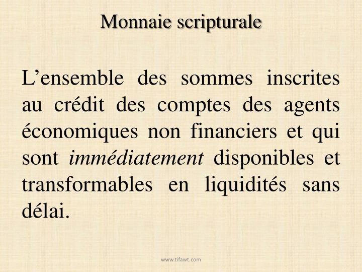 Monnaie scripturale