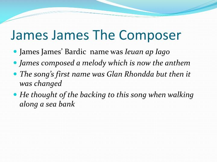 James James The Composer