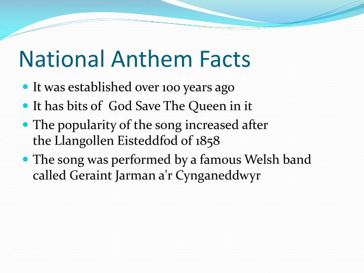 National Anthem Facts