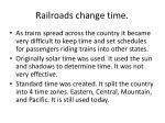railroads change time