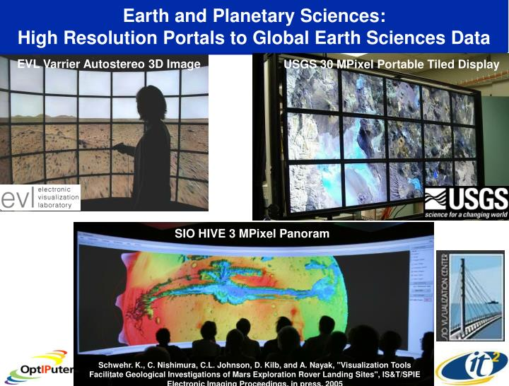 Earth and Planetary Sciences:
