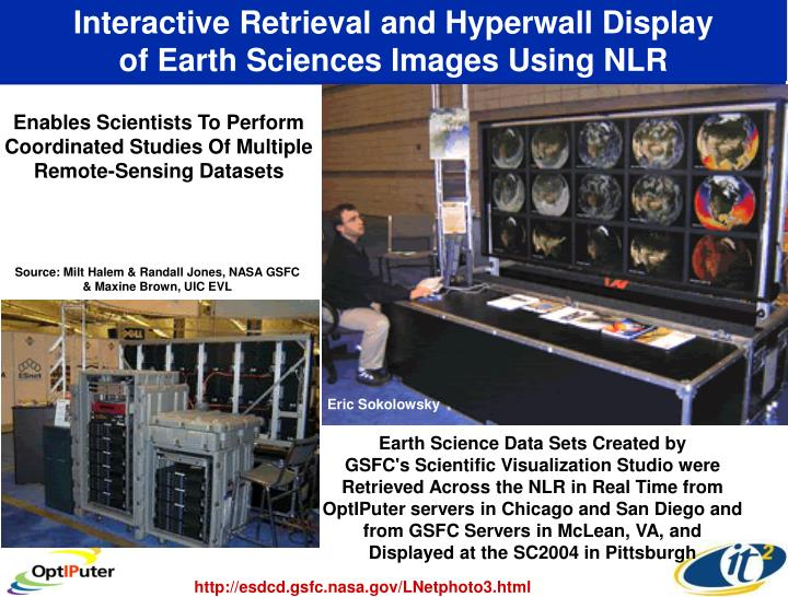 Interactive Retrieval and Hyperwall Display