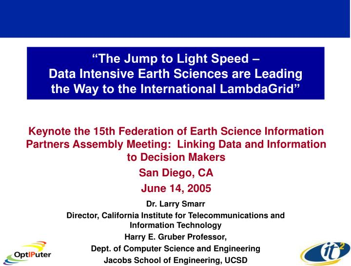 """The Jump to Light Speed –"