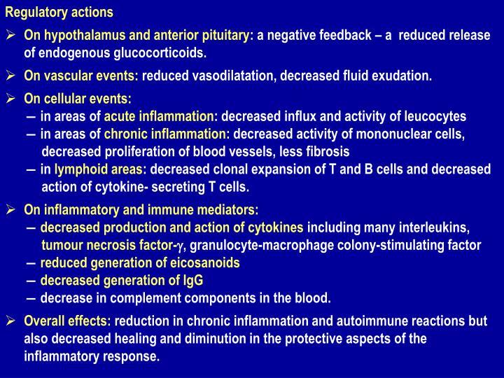 Regulatory actions