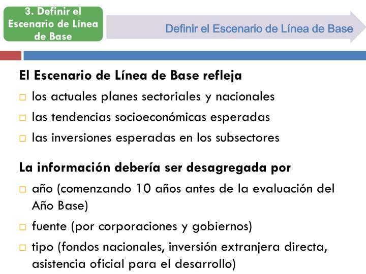 Definir el Escenario de Línea de Base