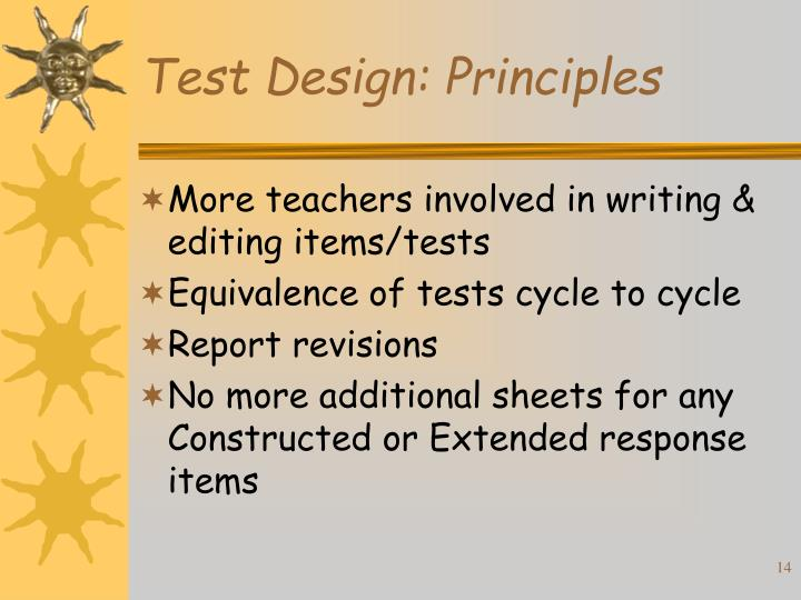Test Design: Principles