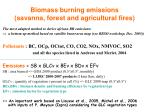 biomass burning emissions savanna forest and agricultural fires