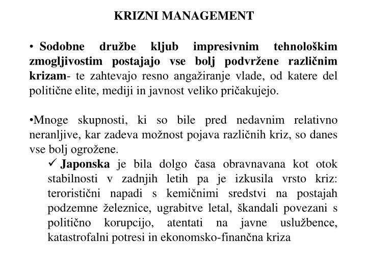 KRIZNI MANAGEMENT