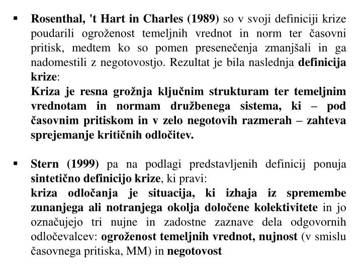 Rosenthal, 't Hart in Charles (1989)