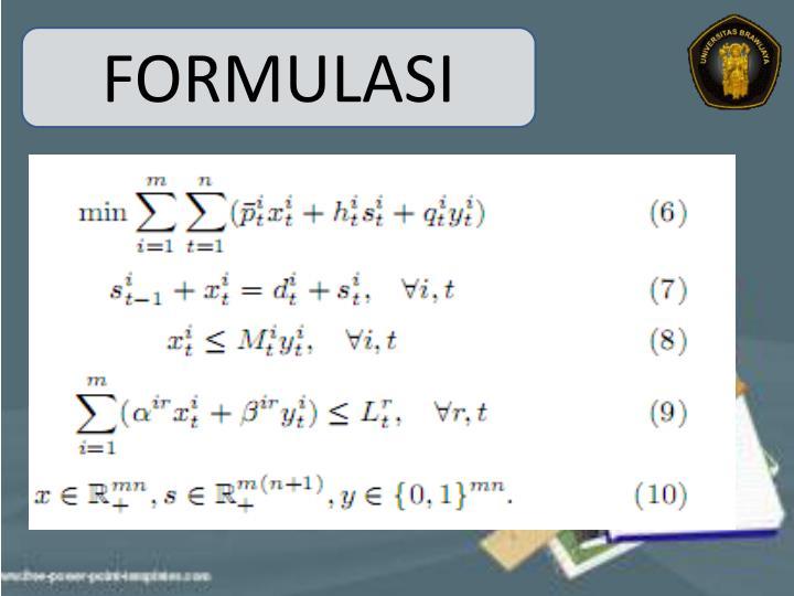 FORMULASI
