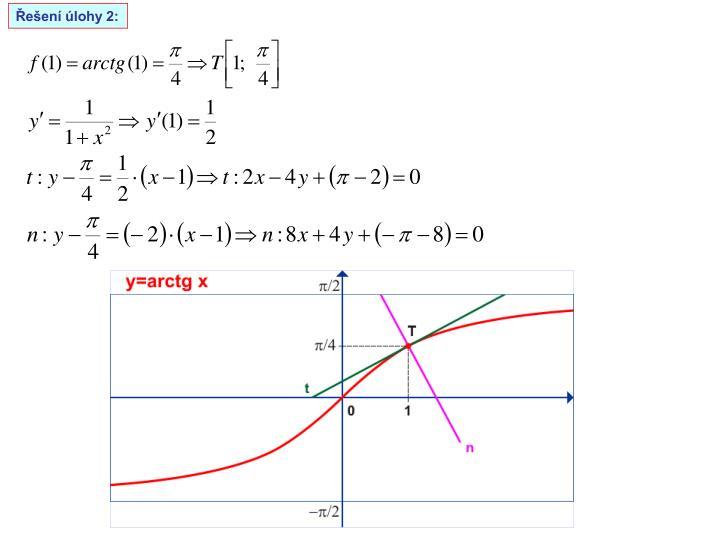Řešení úlohy 2: