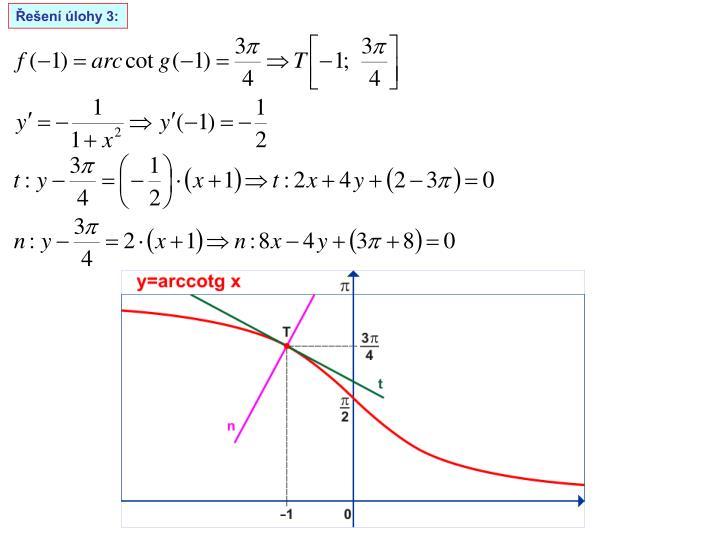 Řešení úlohy 3: