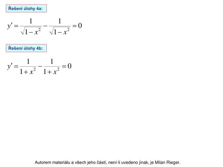 Řešení úlohy 4a: